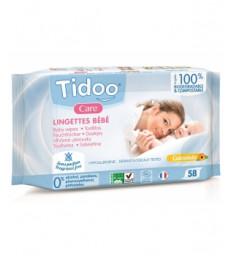 58 Lingettes compostables au Calendula Sans Parfum Tidoo