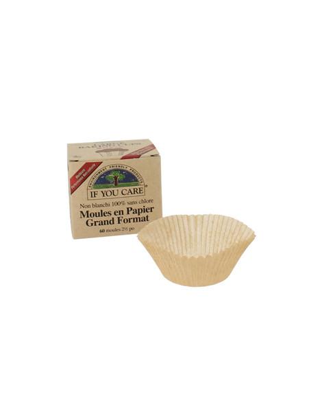60 Moules en papier non blanchi et 100% sans chlore If You Care Herboristerie de Paris