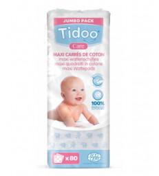 80 Maxi Carrés de Coton Bio TidooCare Tidoo