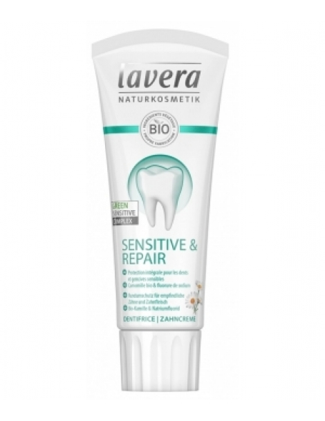 Dentifrice Dents et gencives sensibles Sensitive et Repair 75ml Lavera basis sensitiv Herboristerie de paris