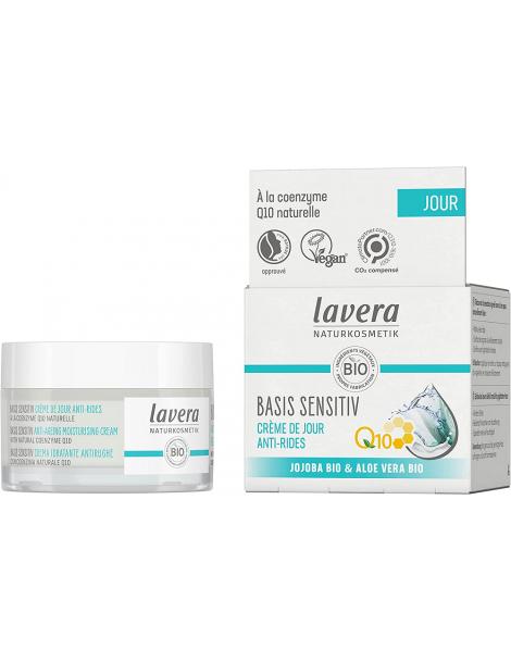 Crème de Jour Anti-rides Q10 Basis sensitiv Lavera coenzyme q10 Herboristerie de paris