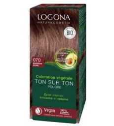 Coloration végétale Ton sur Ton en poudre 070 Marron doré 100gr Logona