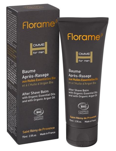 Baume Après Rasage bio 75 ml Florame hydratant Herboristerie de paris