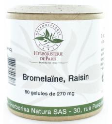 Bromélaine Marc de raisin 60 Gélules végétales Herboristerie de Paris