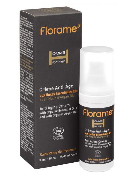 Crème anti-âge bio Homme 30 ml Florame algues et fougères anti rides Herboristerie de paris