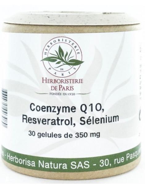 Coenzyme Q10 Fort Resveratrol Sélénium 30 Gélules Herboristerie de Paris anti-âge ubiquinone Herboristerie de paris