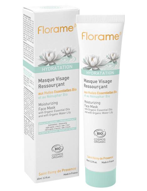Masque Visage Ressourçant Hydratation bio 65 ml Florame aloe vera nénuphar Herboristerie de paris