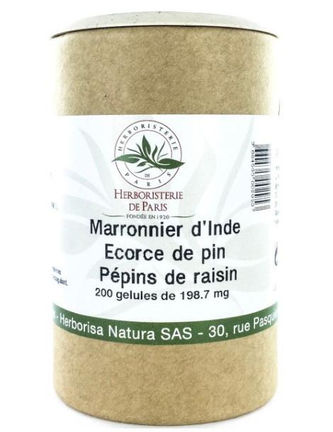 Marronnier d'Inde OPC Pin Raisin Vitamine E 200 Gélules Herboristerie de Paris circulation oligomres proanthocyanodiliques