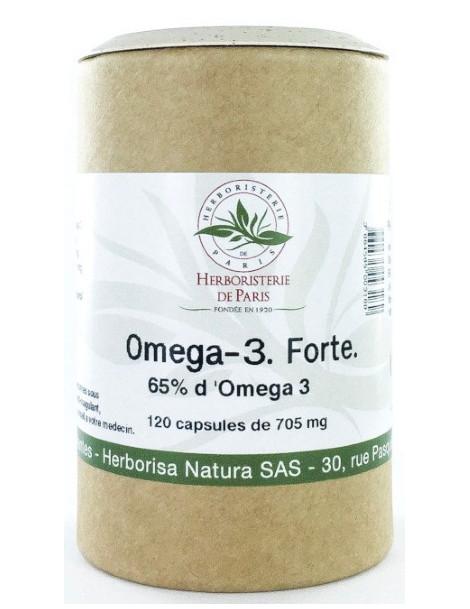 Omega 3 forte 65% 120 capsules de 705 mg Herboristerie de paris EPA DHA acides gras essentiels