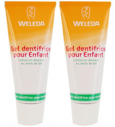 Lot de 2 Gels dentifrice enfant dents de lait 2 x 50ml Weleda