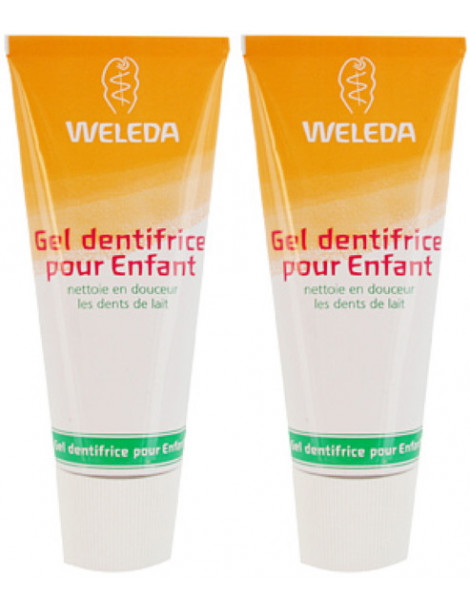 Lot de 2 Gels dentifrice enfant dents de lait 2 x 50ml Weleda dentifrice bio enfant Herboristerie de paris