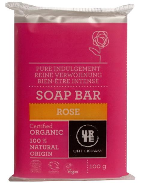 Savon à la Rose de Damas 100 gr Urtekram rose géranium Herboristerie de paris