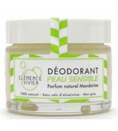 Baume déodorant Peau sensible à la Mandarine 50gr Clemence et Vivien