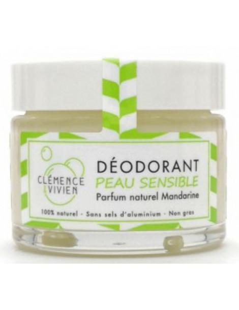 Baume déodorant Peau sensible à la Mandarine 50gr Clemence et Vivien hydroxyde de magnésium Herboristerie de paris