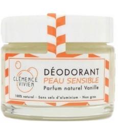 Baume déodorant Peau sensible à la Vanille 50gr Clemence et Vivien