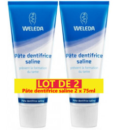 Duo Pâte dentifrice saline anti tartre 2x75ml Weleda