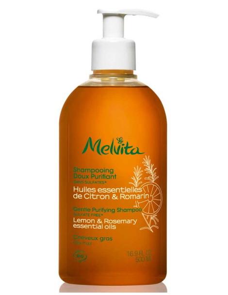Shampooing doux purifiant 500 ml Melvita huiles essentielles Herboristerie de paris