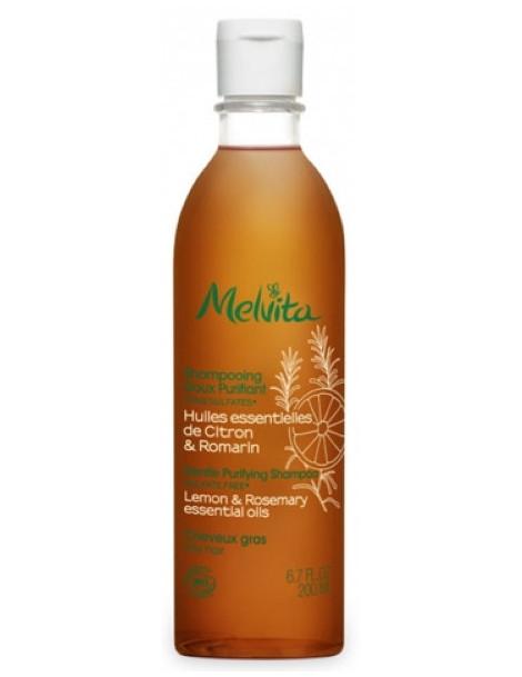 Shampooing doux purifiant 200 ml Melvita cheveux gras et avec excès de sébum Herboristerie de paris