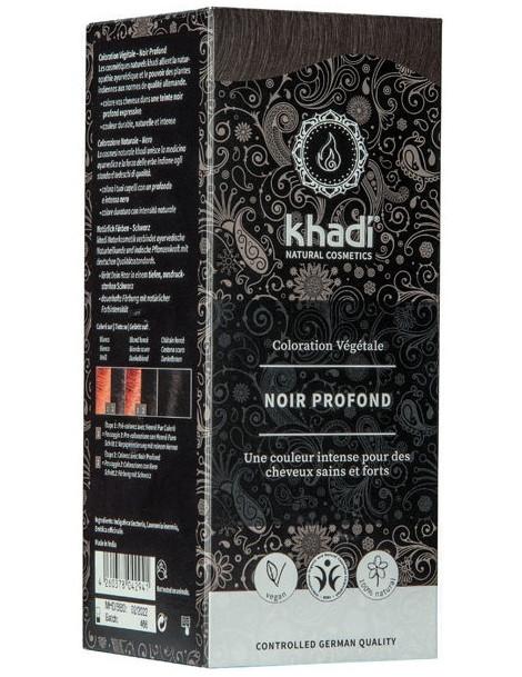 Coloration végétale Noir Profond 100 gr Khadi soin colorant Herboristerie de paris