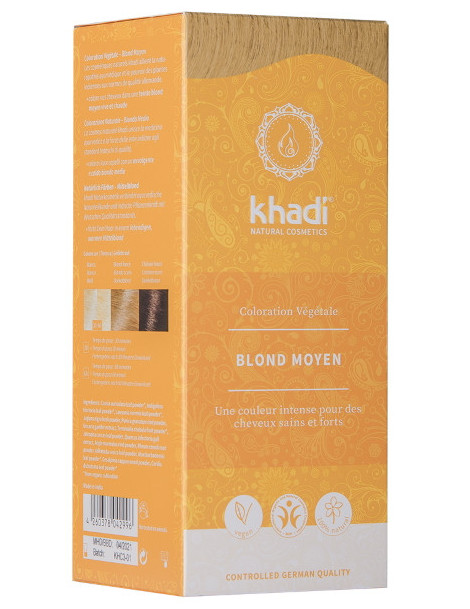 Coloration végétale Blond Moyen 100 gr Khadi soin colorant teinture Herboristerie de paris