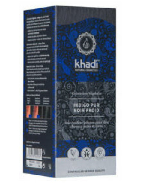 Coloration végétale Indigo Pur Noir Froid 100 gr Khadi teinture végétale Herboristerie de paris