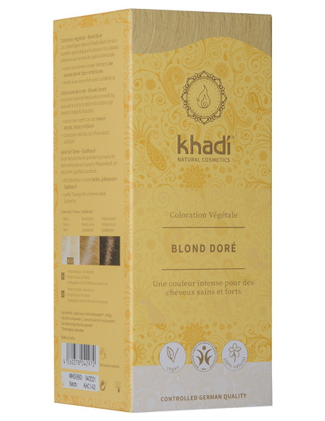 Coloration végétale Blond Doré 100 gr Khadi reflets dorés brillants Herboristerie de paris