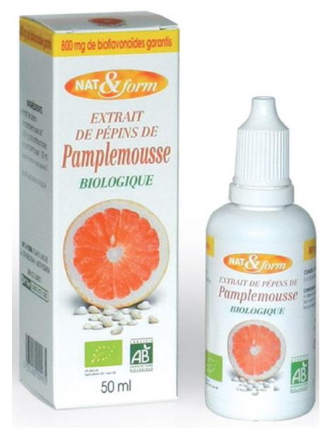 Extrait de pépins de pamplemousse 800mg 50 ml - Nat et Form immunité vitalité Herboristerie de paris