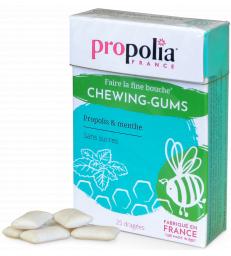 Chewing-Gum Propolis Menthe Reglisse 25 gommes Propolia