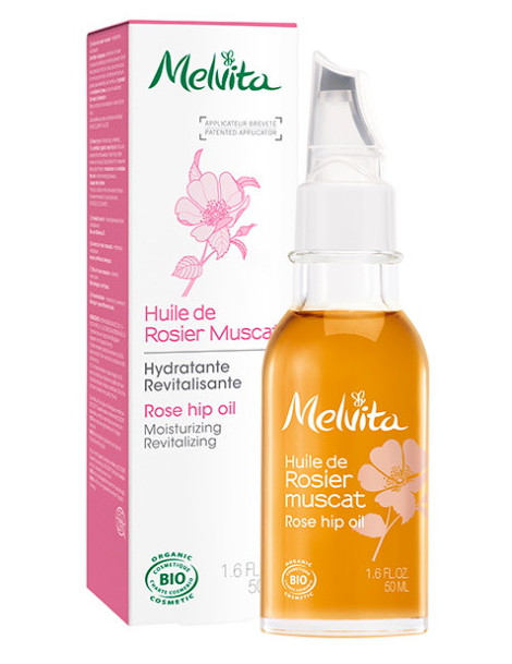 Huile de Rosier Muscat hydratante revitalisante 50 ml Melvita rosa rubiginosa du chili rose musquée Herboristerie de paris