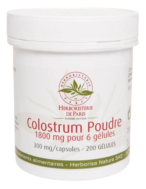 Colostrum Poudre 200 Gélules Herboristerie de Paris colostrum bovin immunité défenses tonus