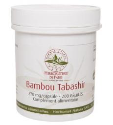 Bambou Tabashir silicium organique 200 gélules Herboristerie de Paris