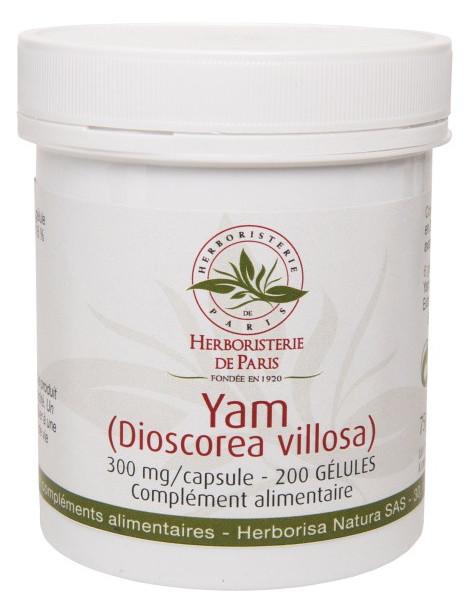 Yam Extrait de Yam 200 Gélules Herboristerie de Paris diosgénine Dioscorea villosa