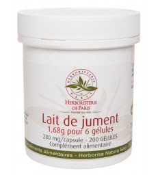 Lait de Jument 1680mg 200 Gélules Herboristerie de Paris