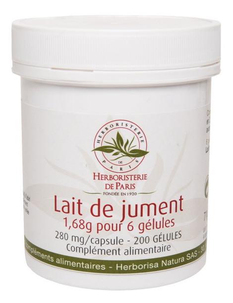 Lait de Jument 1680mg 200 Gélules Herboristerie de Paris vitalité tonus énergie lait lyophilisé