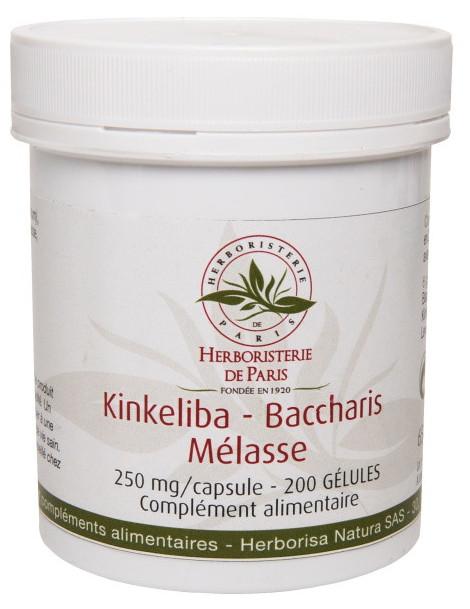 Kinkeliba Baccharis Mélasse 200 Gélules Herboristerie de Paris detox draineur émonctoires