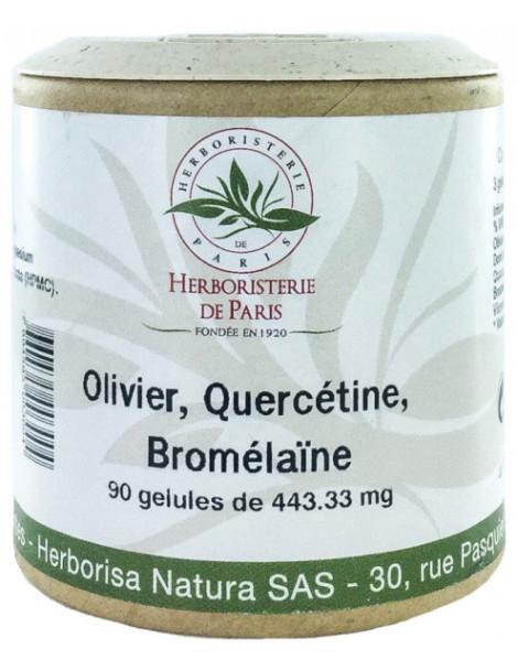 Olivier Quercétine Bromélaïne 90 Gélules Herboristerie de Paris oleuropéine antioxydants palpitations