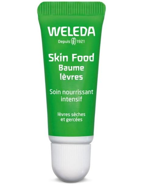 Skin food Baume à lèvres 8 ml Weleda strick lèvres Natrue Herboristerie de paris