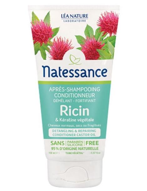 Après Shampoing conditionneur démêlant fortifiant Ricin Kératine Végétale 150 ml Natessance Herboristerie de paris