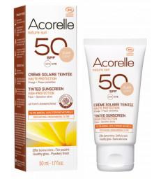 Crème Solaire teintée SPF 50 clair 50ml Acorelle