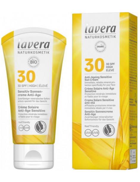 Crème solaire anti âge sensitive SPF 30 50ml Lavera