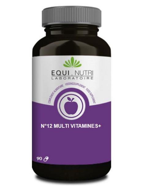 No 12 Multi-Vitamines Plus Ginseng  90 gelules Equi - Nutri Herboristerie de paris