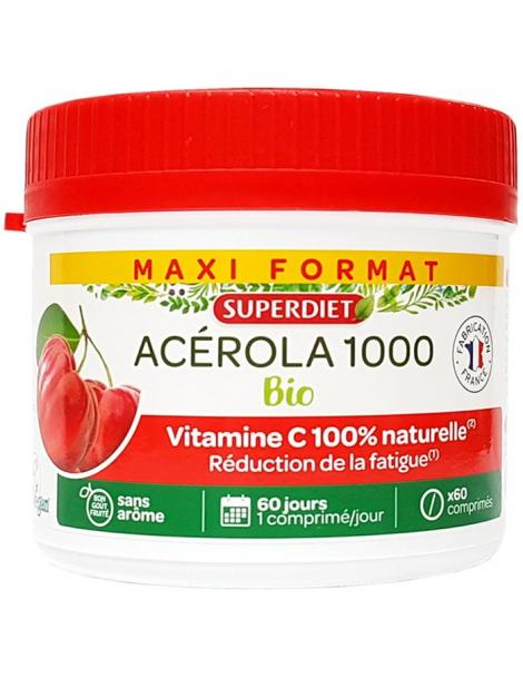 Acérola Bio 1000 Vitamine C maxi pot de 60 comprimés Herboristerie de paris