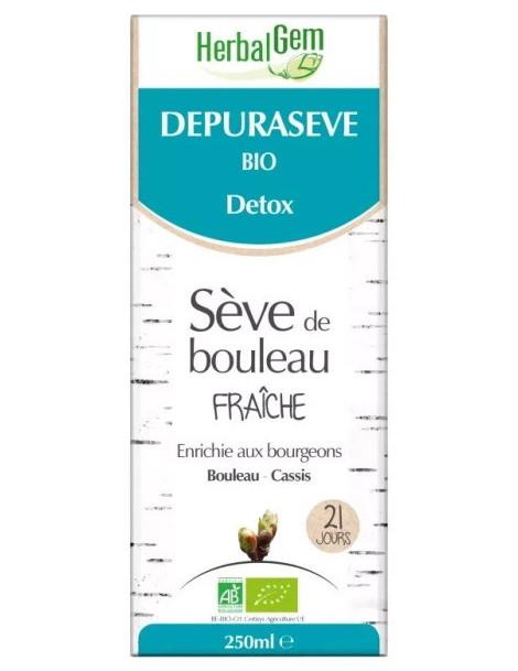 Depurasève Bio  Sève de bouleau 250 ml Herbalgem Betula alba succus Herboristerie de paris