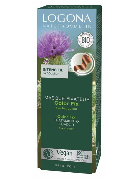 Masque fixateur Color Fix après coloration 100ml Logona arginine anti-oxydation Herboristerie de paris
