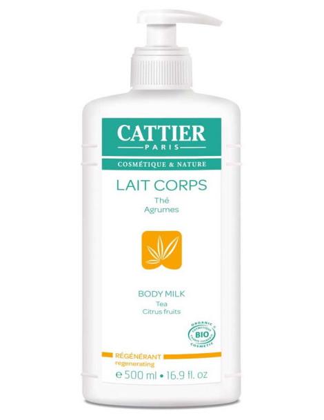 Lait Corps Hydratant Régénérant Pamplemousse Citron 500 ml Cattier lait corporel bio Herboristerie de paris