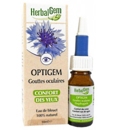 Optigem Collyre Flacon compte gouttes 10ml Herbalgem