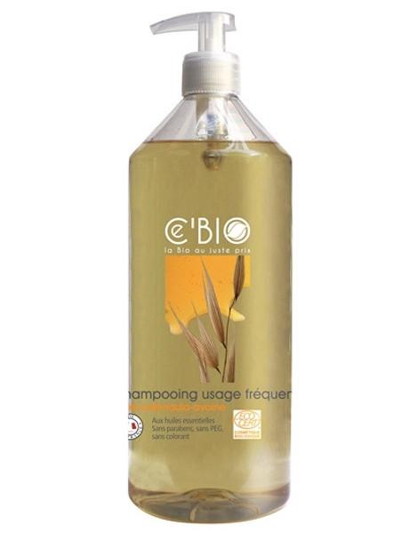 Shampooing usage fréquent Miel Calendula Avoine 1L C'bio shampoing ecocert Herboristerie de paris