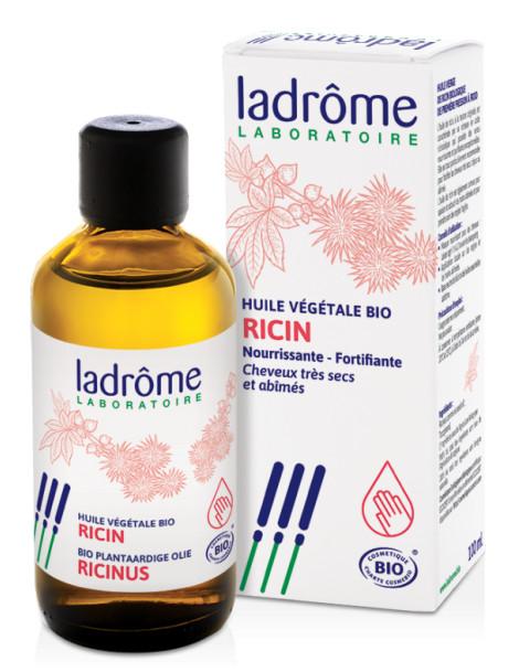 Huile de Ricin bio ricinus communis 100ml Ladrôme cils, barbe, ongles, cheveux Herboristerie de paris