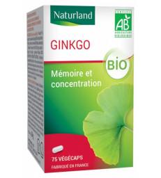 Ginkgo Biloba 75 Gélules Végécaps Naturland
