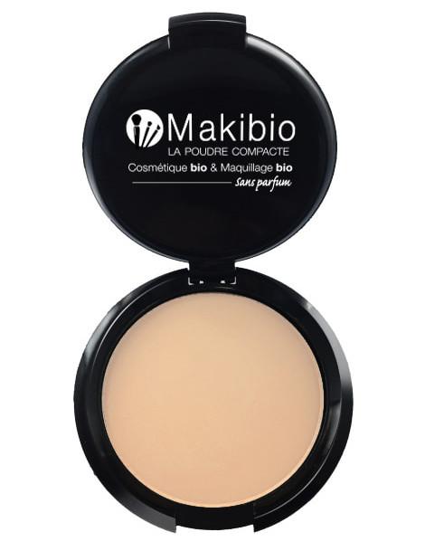 Poudre compacte Claire 9 gr Makibio maquillage minéral et bio Herboristerie de paris